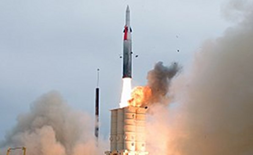 File photo of Arrow 2 missile test. Photo: US Navy News Service