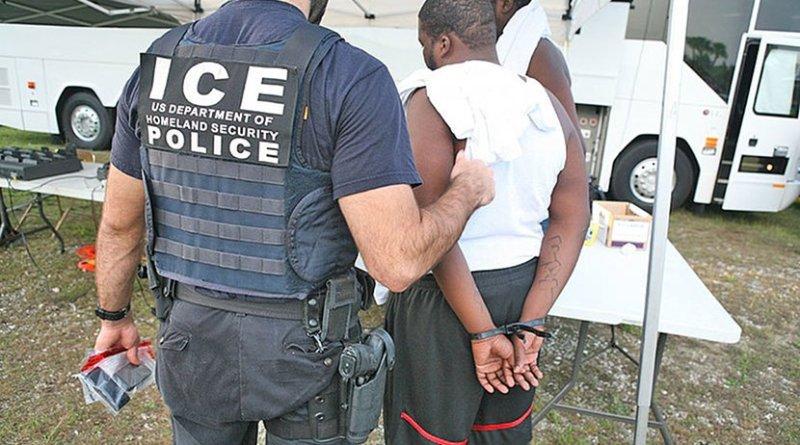 HSI Special Agent arresting a suspect. Photo Credit: U.S. Immigration and Customs Enforcement