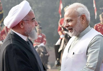 The President of the Islamic Republic of Iran, Dr. Hassan Rouhani being received by India's Prime Minister, Shri Narendra Modi, at the Ceremonial Reception, at Rashtrapati Bhavan, in New Delhi.