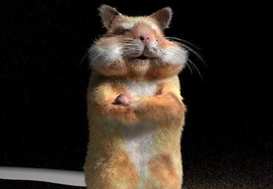 Rendering of a hamster, generated with the researchers' method. Credit University of California San Diego
