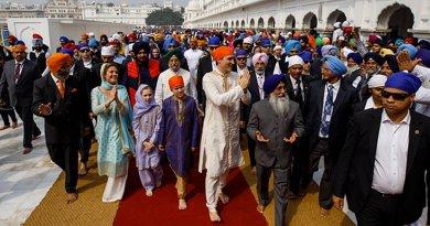 Canada's Prime Minister Justin Trudeau in India. Photo Credit: Justin Trudeau Twitter.