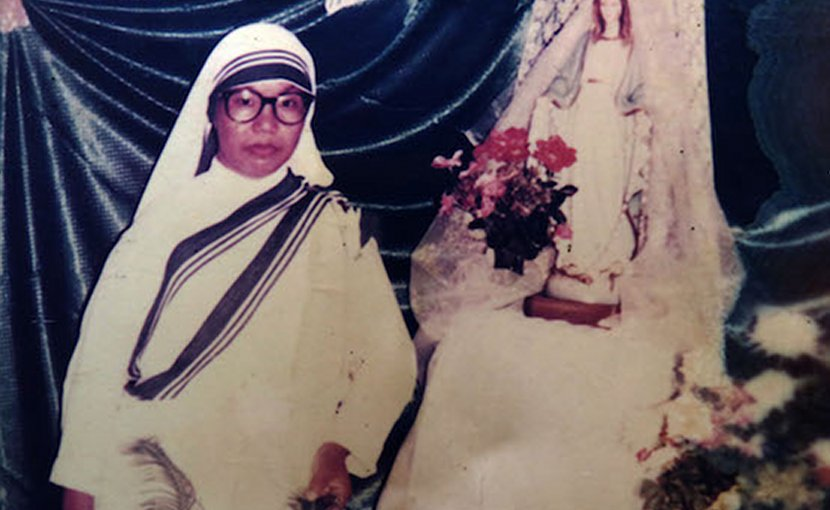 A portrait of Sister Sueva, a Missionaries of Charity nun from Bangladesh's indigenous Garo community who was killed by rebels in Sierra Leone on Jan. 22, 1999. (Photo supplied via ucanews.com)