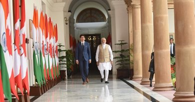 India's Prime Minister, Shri Narendra Modi with the Prime Minister of Canada, Mr. Justin Trudeau, at Hyderabad House, in New Delhi . Photo Credit: India PM Office.