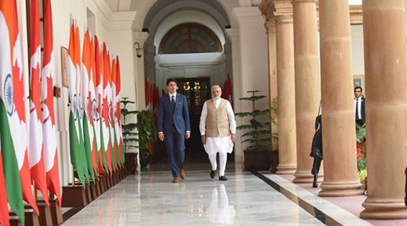 India's Prime Minister, Shri Narendra Modi with the Prime Minister of Canada, Mr. Justin Trudeau, at Hyderabad House, in New Delhi . Photo Credit: India PM Office.