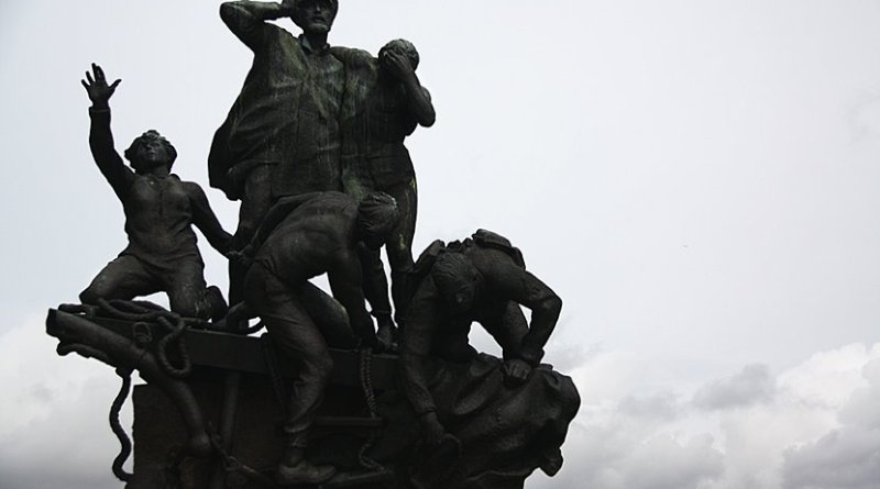 Statue of shipwrecked sailor norway scandinavia