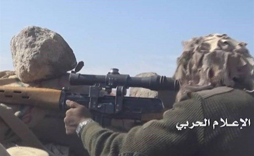 A Yemeni forces sniper. Photo Credit: Tasnim News Agency.