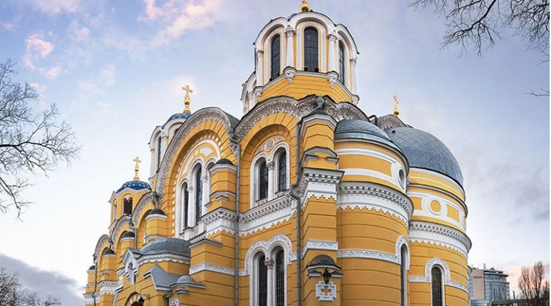 St Volodymyr's Cathedral is a cathedral in the centre of Kiev, Ukraine. Photo by Ryzhkov Sergey, Wikimedia Commons.