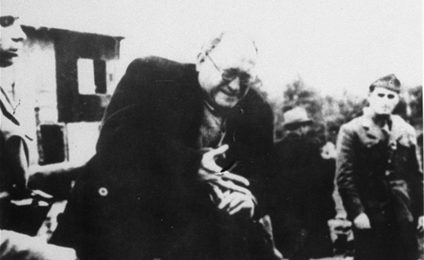 A Jewish prisoner is stripped of his belongings at Jasenovac. Photo: Wikimedia Commons/courtesy of Jewish Historical Museum, Belgrade