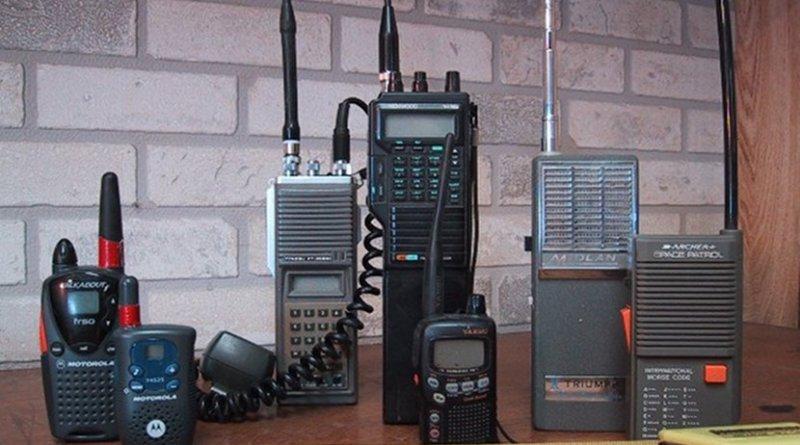 Recreational, toy and amateur radio walkie-talkies. Photo by Wtshymanski, Wikipedia Commons.