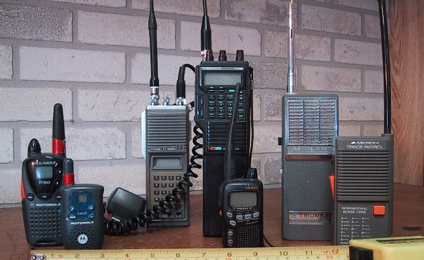 Recreational, toy and amateur radio walkie-talkies. Photo by Wtshymanski, Wikipedia Commons.