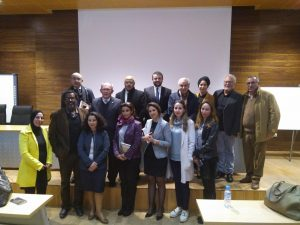 The writer with the Rabat International University audience