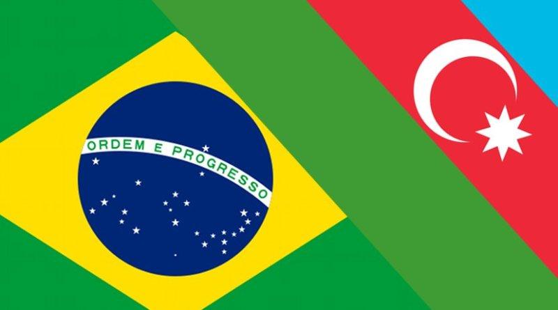 Flags of Azerbaijan and Brazil