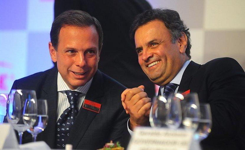 Brazil's João Doria and Aécio Neves. Photo Credit: Aécio Neves, Wikimedia