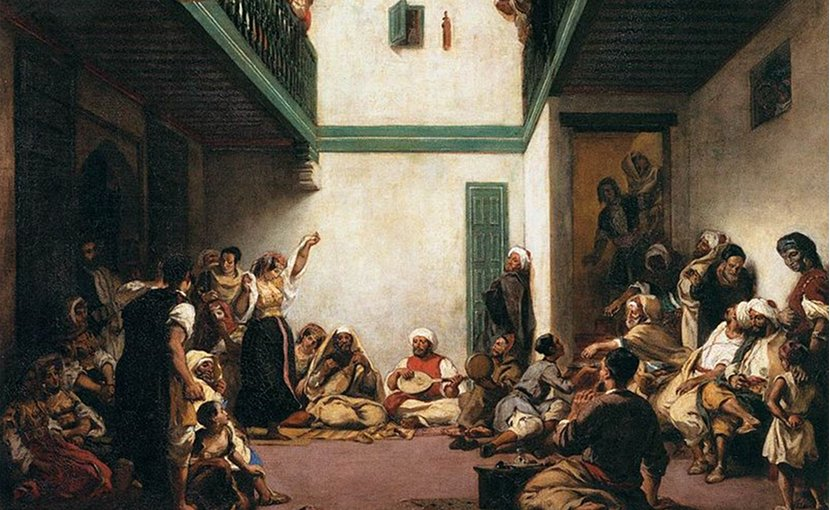 Jewish Wedding in Morocco. Painting by Eugène Delacroix.