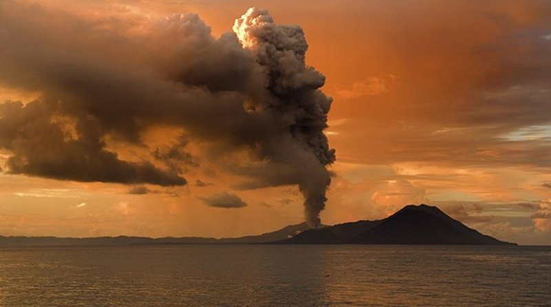 Tuvurvur volcano - part of Rabaul Caldera –– Papua New Guinea. Photo by Taro Taylor, Wikimedia Commons.