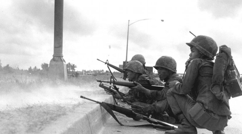 ARVN Rangers defend Saigon, Vietnam during the Tet Offensive. Photo Credit: US military personnel, Wikimedia Commons.
