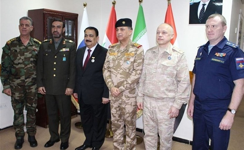 Military representatives of Iran, Iraq, Russia and Syria meet in Baghdad. Photo Credit:Tasnim News Agency.