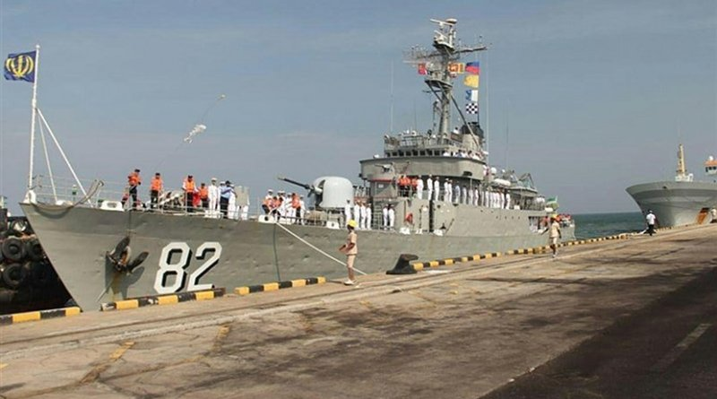 Iranian naval fleet docks at Indian port of Mumbai. Photo Credit: Tasnim News Agency.