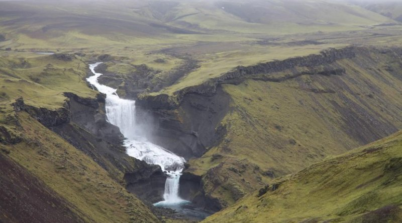 This is part of the Eldgjá fissure in southern Iceland. Credit Clive Oppenheimer