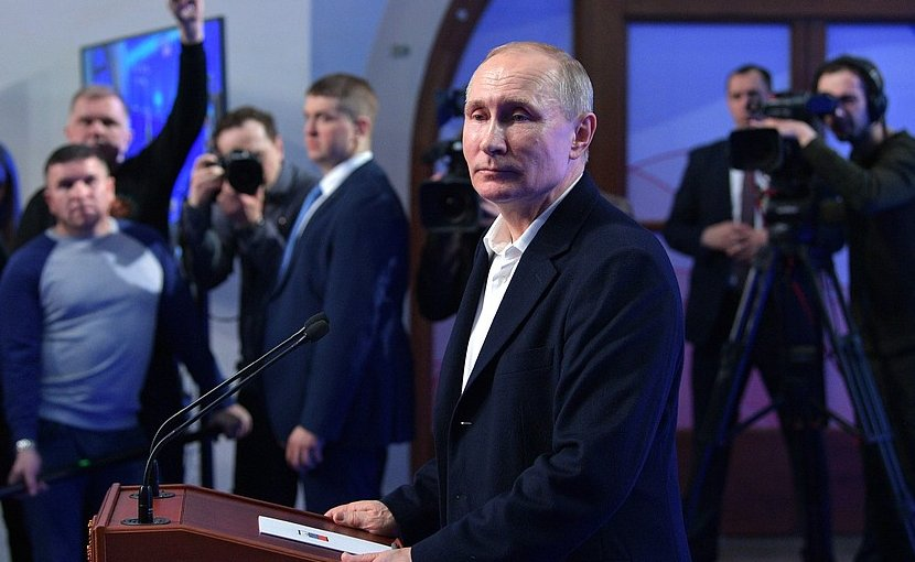 Russia's Vladimir Putin speaks to the press. Photo Credit: Kremlin.ru