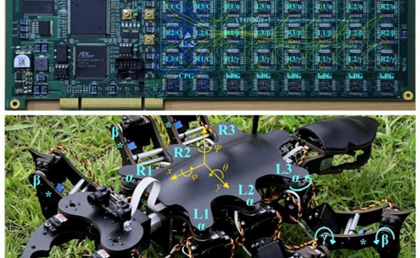 Views of the Circuit Board Implementing the Controller and of the Robot. (Reproduced with permission from published article). Credit IEEE ACCESS