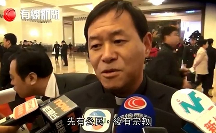 Bishop Peter Fang Jianping is confident China and the Vatican can reach an agreement on appointing bishops. (Photo taken from YouTube)