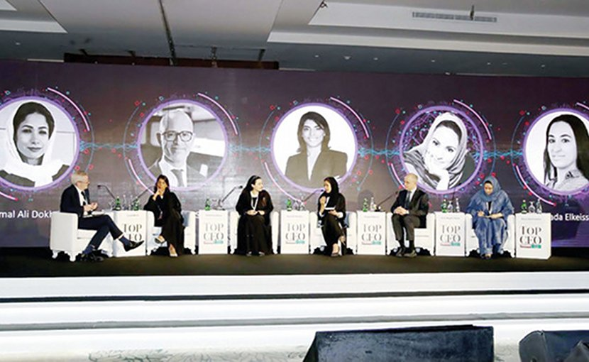 The first day of the event was devoted to women's role in business, the economy and society, where experts took to the stage at the invitation of media personality Muna AbuSulayman, right. AN photo