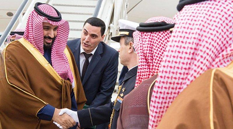 Saudi Crown Prince Mohammed arrives in Spain. Photo credit: SPA