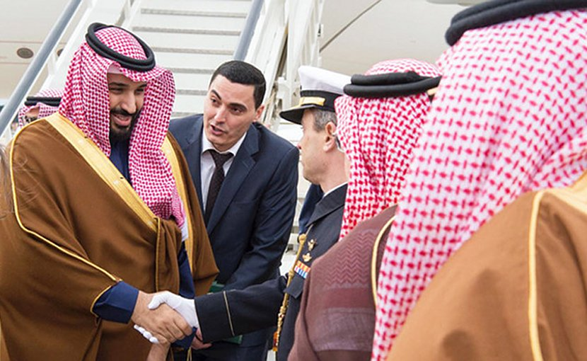 Saudi Crown Prince Mohammed arrives in Spain. Photo credit: SPA