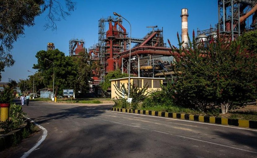 Steel mill in Pakistan.