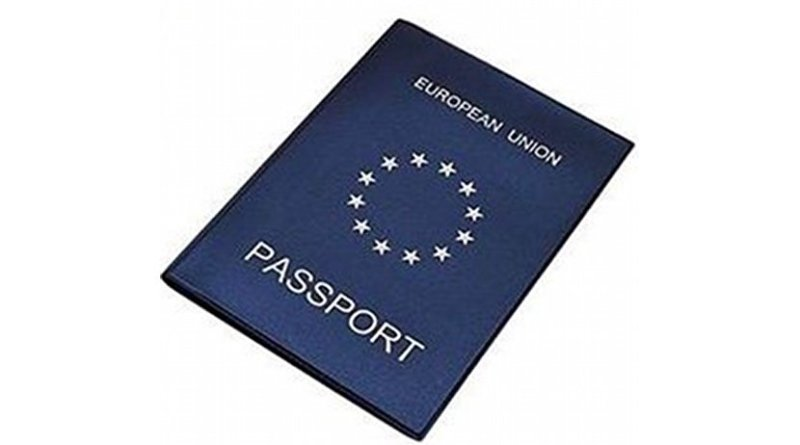 Image of April 1 joke European Union passport. Photo Credit: European Parliament.