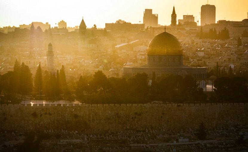Jerusalem at dusk.
