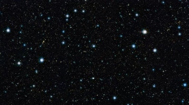 This is a view of the COSMOS field in the constellation of Sextans, seen in infrared light. This corresponds closely to the region of the sky studied in the new work. Credit ESO/UltraVISTA team. Acknowledgement: TERAPIX/CNRS/INSU/CASU