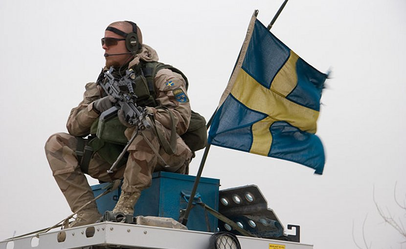 Swedish soldier. Photo by Brindefalk, WIkimedia Commons.