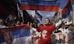 A Pro-Russia Demonstration in Belgrade (Credit: Fond strategicheskoy kul'tury)