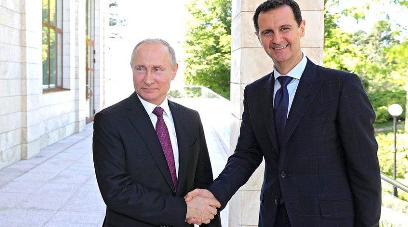 Russia's President Vladimir Putin with President of Syria Bashar al-Assad. Credit: Kremlin.ru