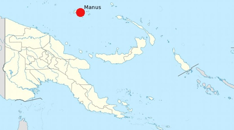 Location of Manus Island in Papua New Guinea