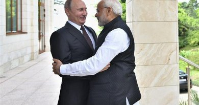India's Prime Minister, Shri Narendra Modi with the President of Russian Federation, Mr. Vladimir Putin. Photo Credit: India PM Office.