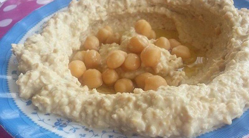 A plate of humus.