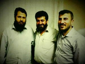 """Ahman"" of Mssrs. Zahran Alloush, Hassan Abboud and Isa al-Sheikh, the leaders of the Islam Brigade (now Islamic Front), Ahrar al-Sham and Suqour al-Islam respectively"