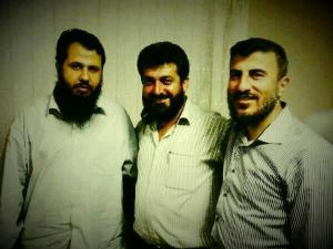 """""""Ahman"""" of Mssrs. Zahran Alloush, Hassan Abboud and Isa al-Sheikh, the leaders of the Islam Brigade (now Islamic Front), Ahrar al-Sham and Suqour al-Islam respectively"""