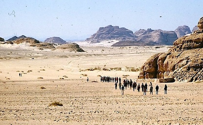 Eritreans fleeing the country first have to risk their lives crossing the border, whose guards are authorised to shoot on sight. Those who try to reach Israel must cross the Sinai Peninsula. Many don't make it. Credit: Gan-Shmuel archive