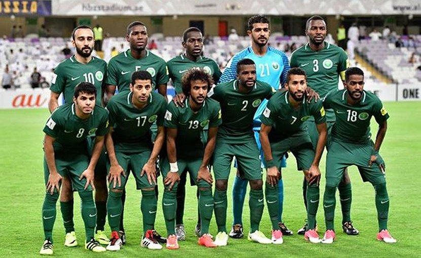 Saudi Arabia's national football squad.