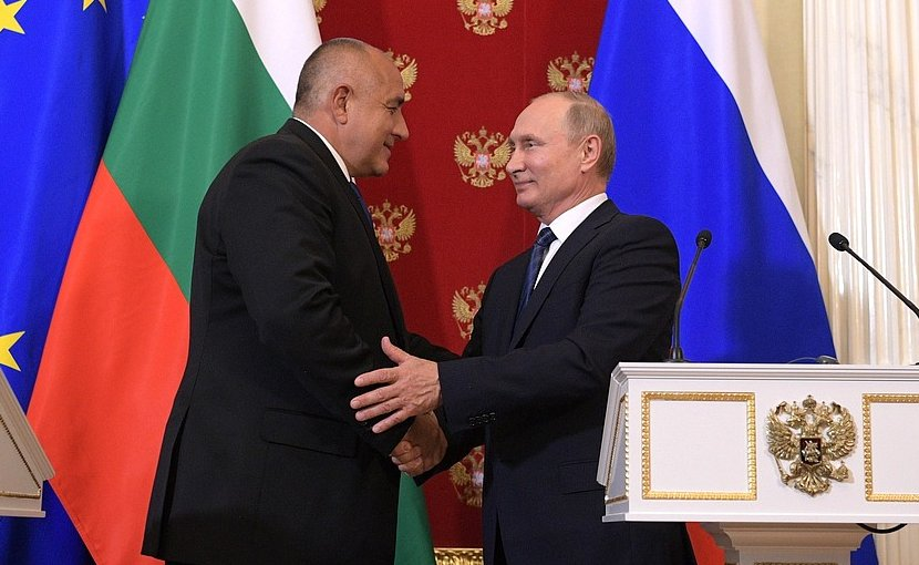 Prime Minister of Bulgaria Boyko Borisov with Russia's President Vladimir Putin. Photo Credit: Kremlin.ru