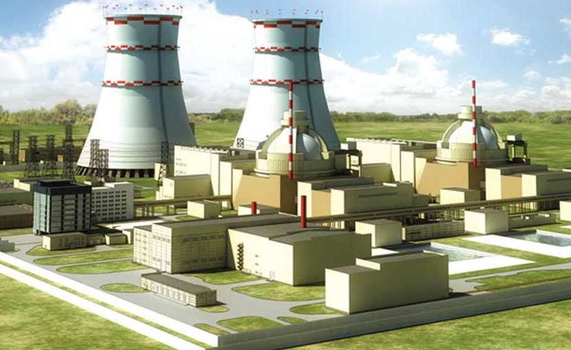 Illustration of Rooppur Nuclear Power Plant in Bangladesh.