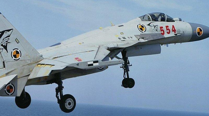 A Chinese J-15 aircraft. Photo by Garudtejas7, Wikipedia Commons.