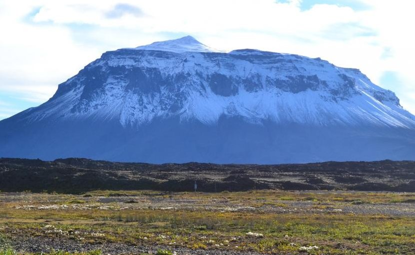 Researchers expect the volcanoes in Mars' Sisyphi Planum region to look similar to subglacial volcanoes on earth, such as Herðubreið in Iceland. Credit Purdue University photo/Sheridan Ackiss