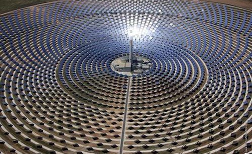 This is the Gemasolar Concentrated Solar Power (CSP) plant, owned by Torresol Energy, in Seville, Spain. Credit ®SENER