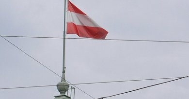 The flag of Austria.