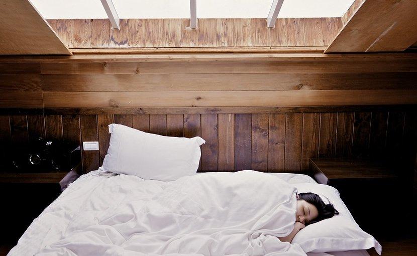 woman sleep bed